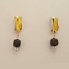 ST1018 silver, gold & hematite earrings