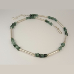 ST1214 Tourmaline & silver necklace.