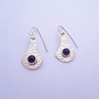 ST1273 Amethyst & Silver earrings