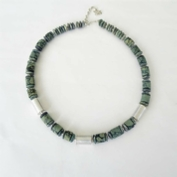 ST684 African Green Jasper necklace