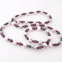 ST900 Howite, Hematite & Agate necklace